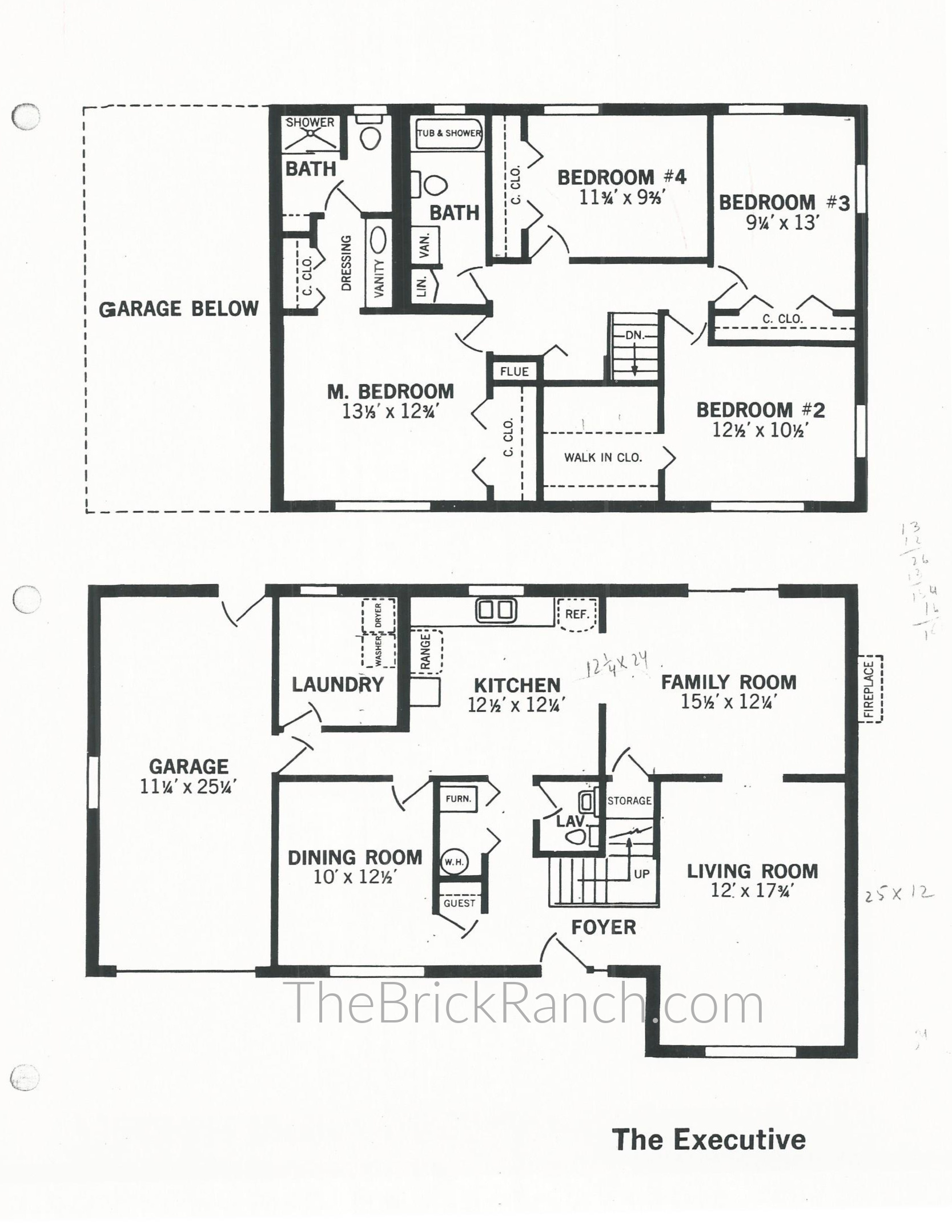 Huber Home Floor Plans: The Executive