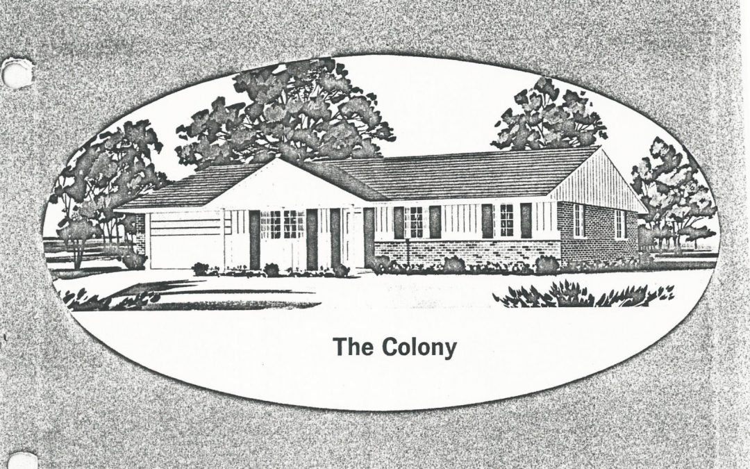 Huber Home Floor Plans: The Colony