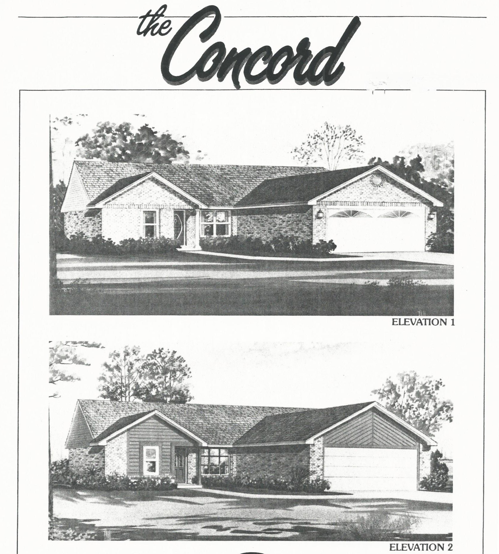 Huber Home Floor Plans Concord Elevation