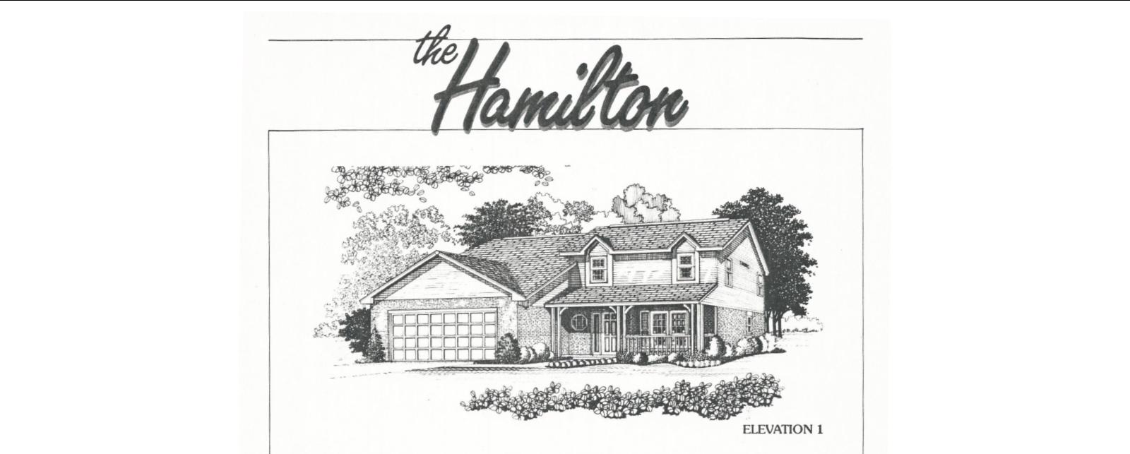 Huber Home Floor Plans Hamilton model